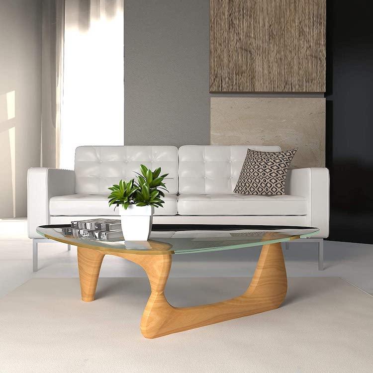 Natural Wood Replica of Noguchi Table by Isamu Noguchi