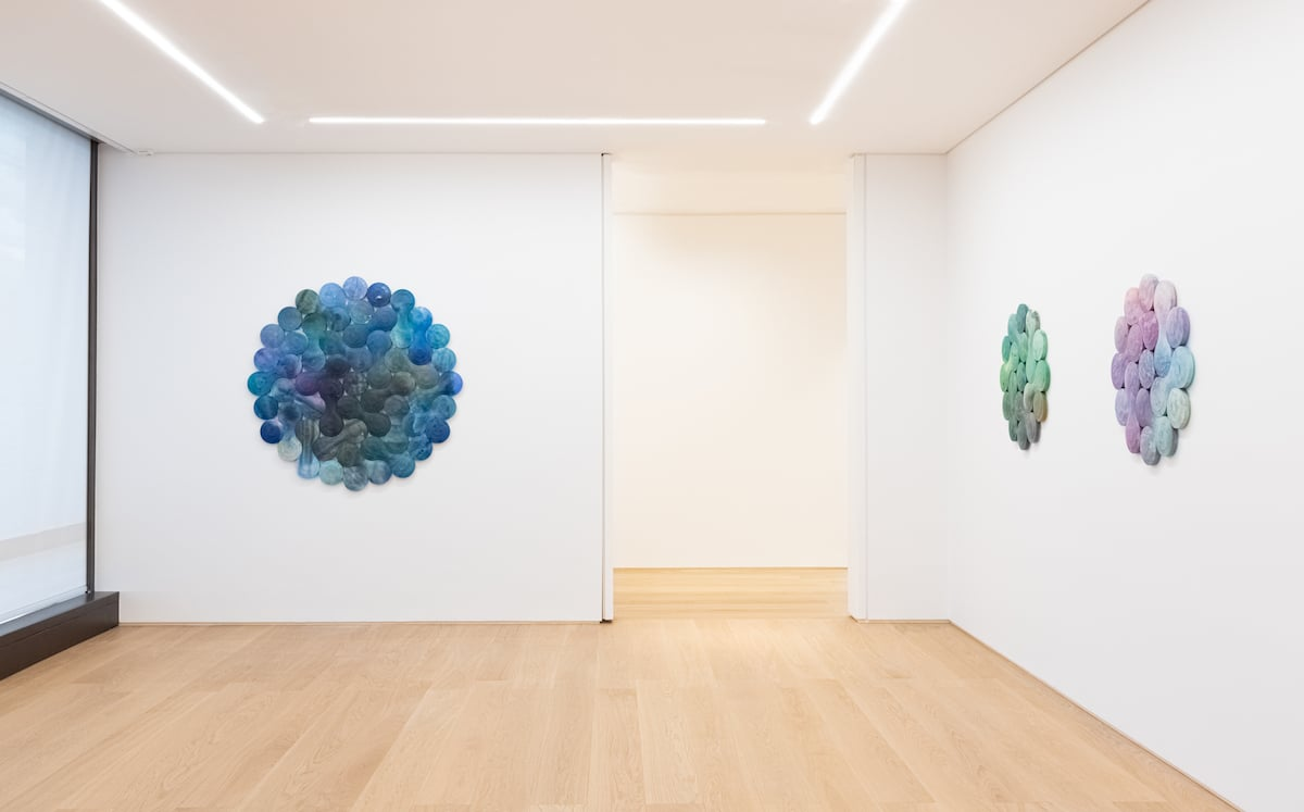 Exhibition of Abstract Sculptural Paintings by Artist Josh Sperling