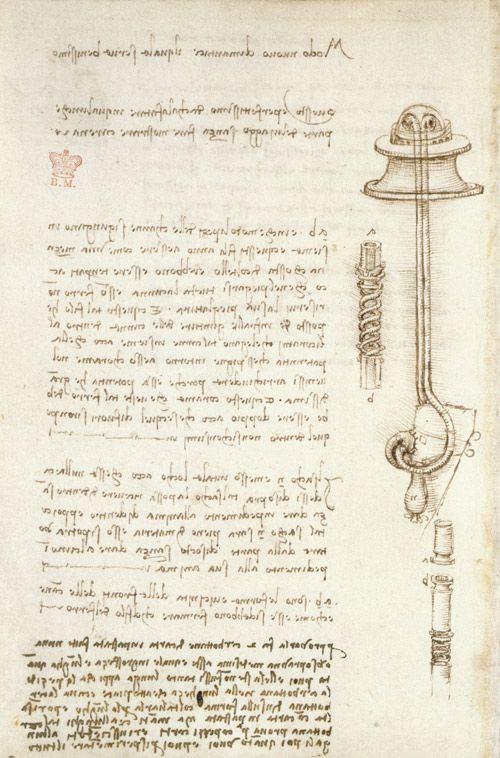 Página del Codex Arundel de Leonardo da Vinci