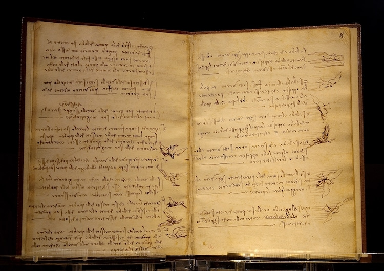 Códice sobre el vuelo de los pájaros de Leonardo da Vinci