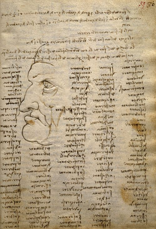 Página del Codex Trivulzianus de Leonardo da Vinci