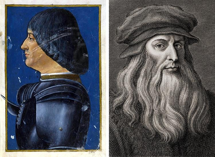 Portrait of Duke of Milan and Portrait of Leonardo da Vinci