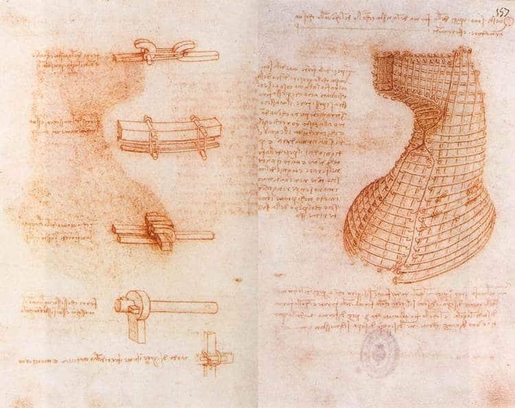 Página de los Códices Madrid de Leonardo da Vinci