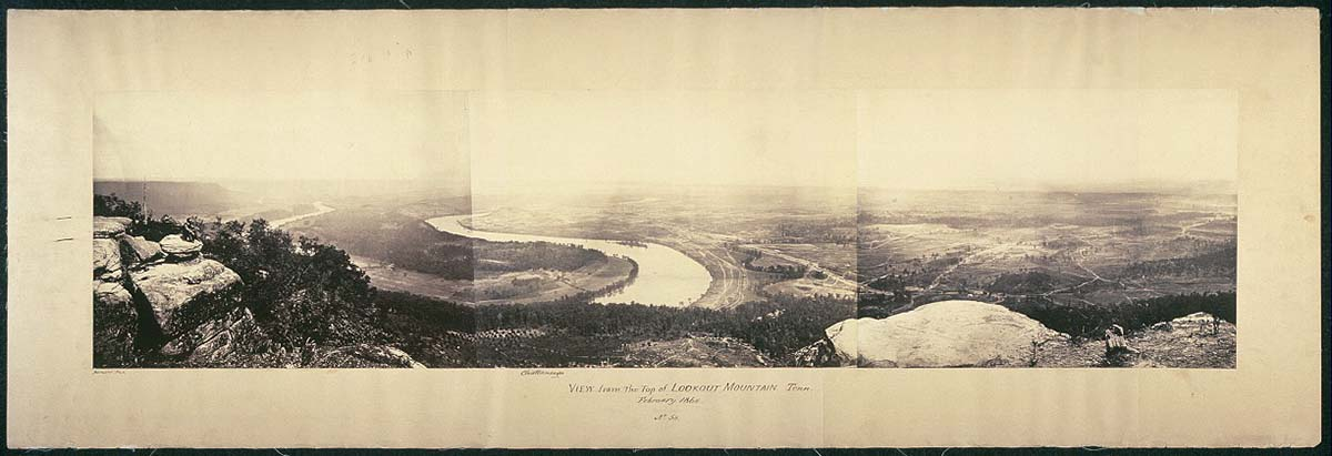 View from the top of Lookout Mountain, Tenn., February, 1864