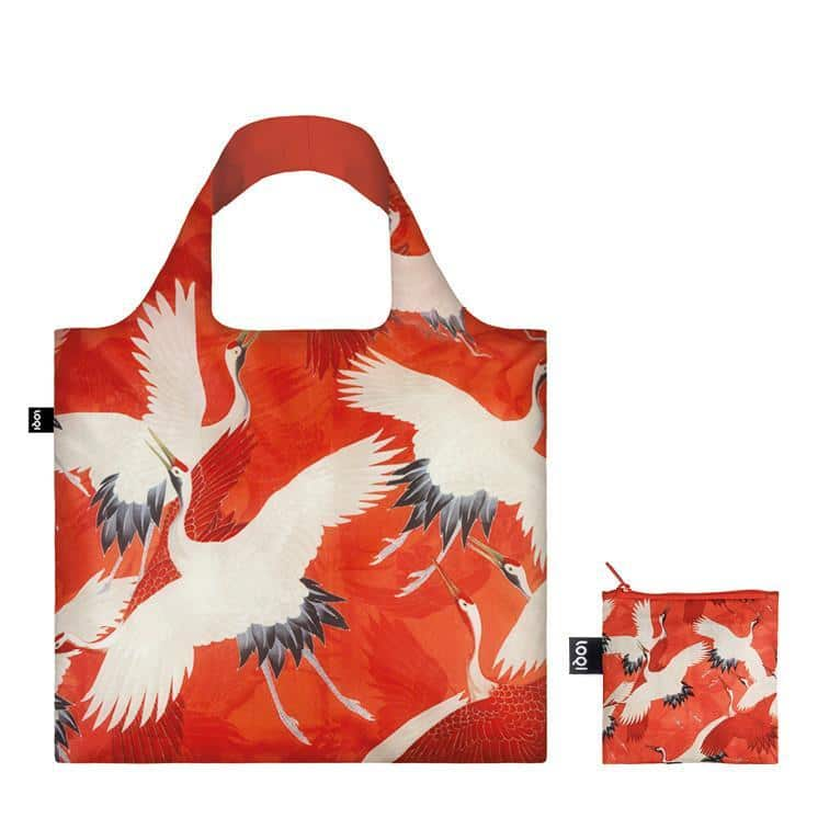 Haori With Cranes Tote Bag by LOQI