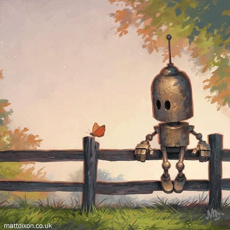 Digital Robot Art by Matt Dixon