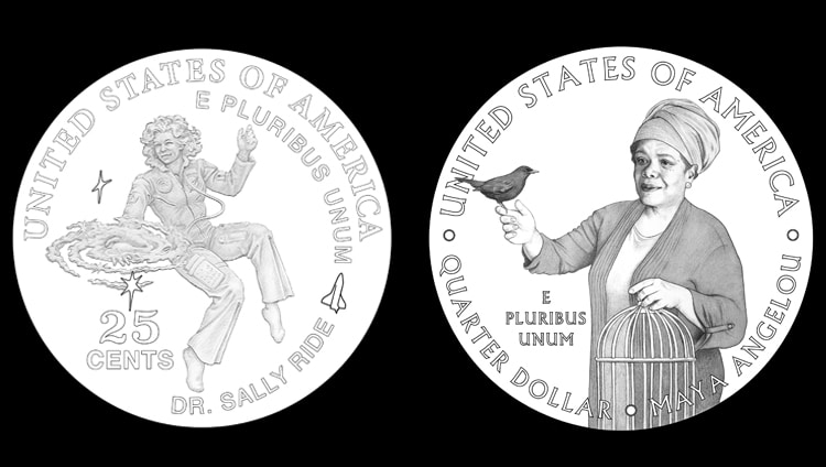 Maya Angelou and Sally Ride to Be First Women on Nationwide US Quarter Coins, Says US MInt