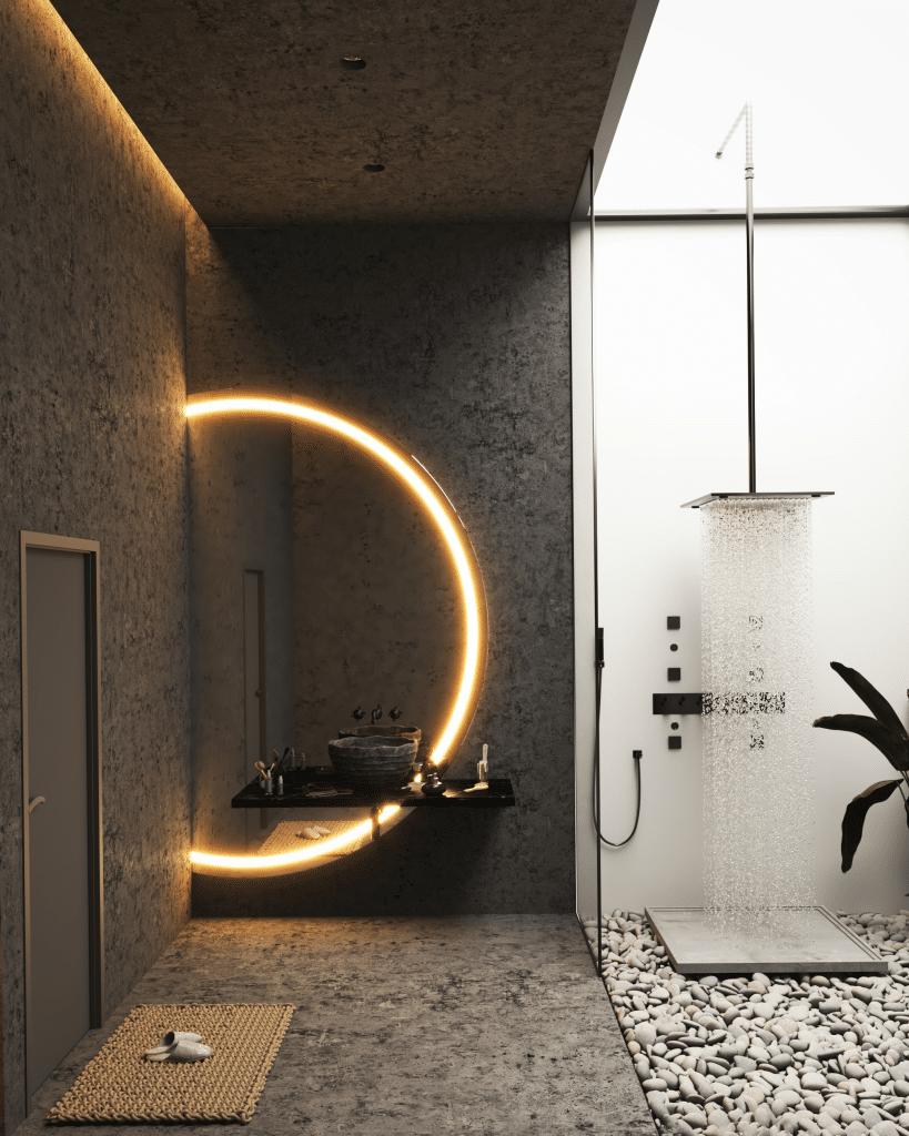 Interior of Milad Eshtiyaghi designed Landscape House