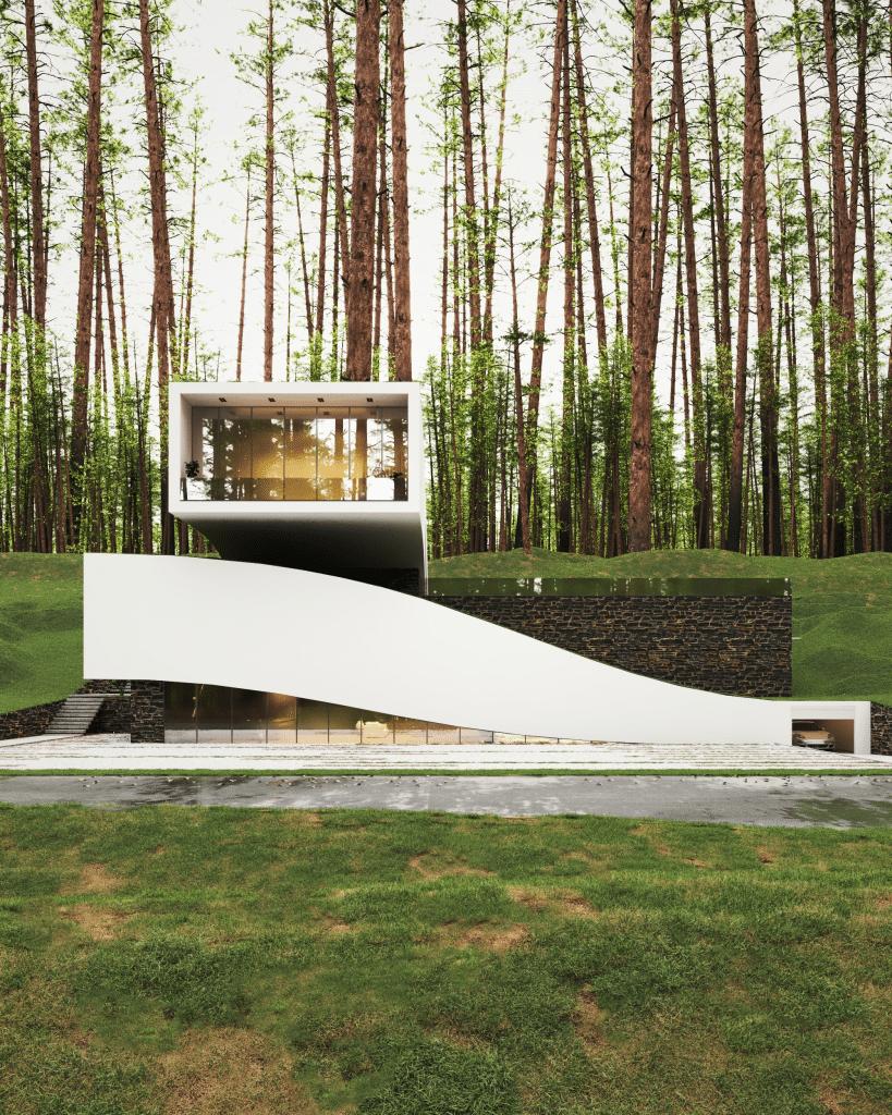 Exterior of Milad Eshtiyaghi designed Landscape House