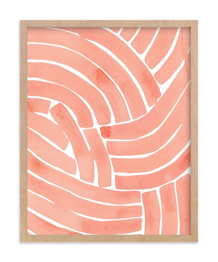 Abstract Art Print of Curving Lines