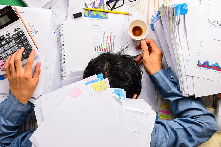 Overworked and tired employees suffer health problems