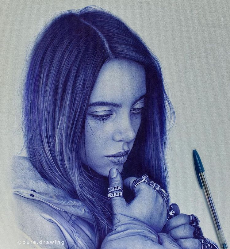 Blue Ballpoint Pen Drawings by Paulus Architect
