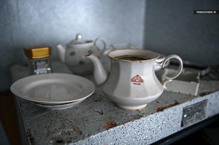 Porcelain left over inside the power plant.