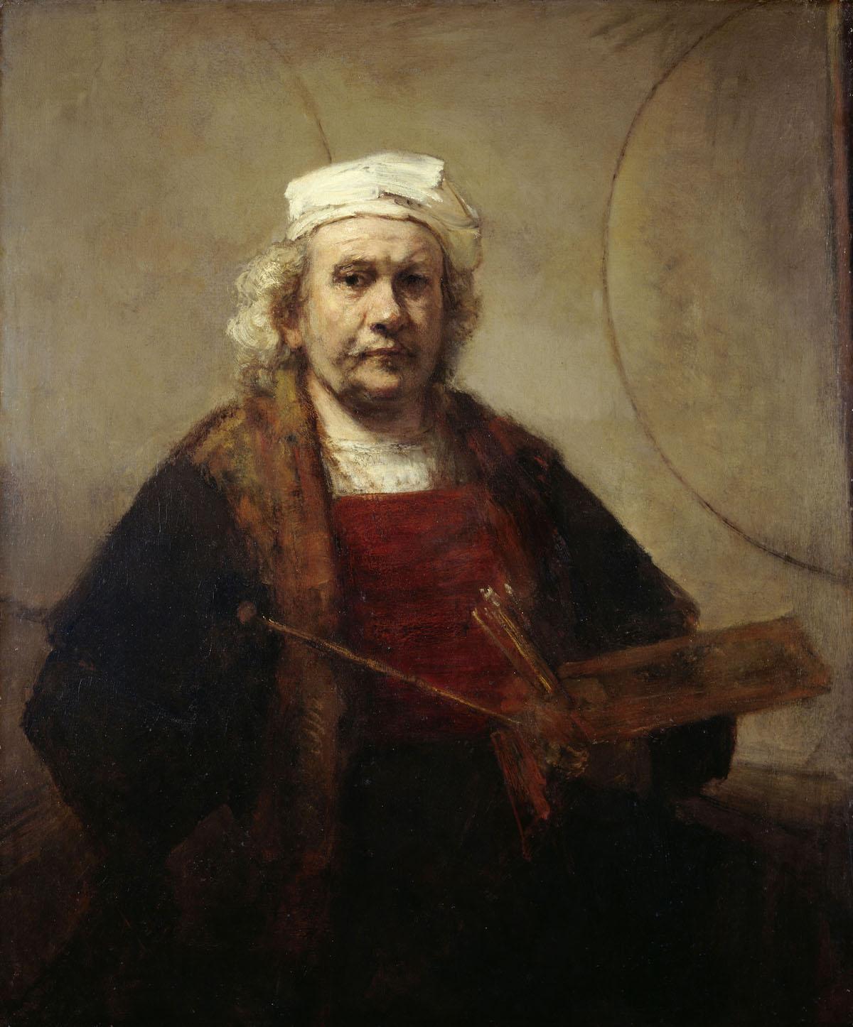 autorretrato de Rembrandt