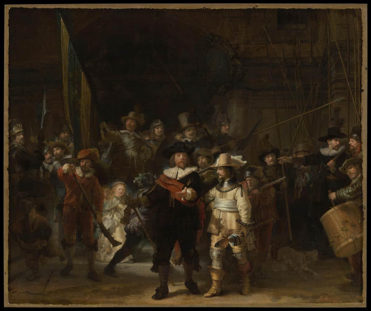 la rona de noche de Rembrandt