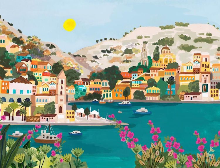 Dreamy Lanscape Paintings by Rhi James