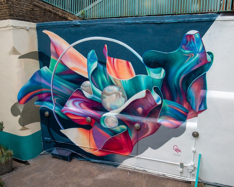 murales abstractos de Rosie Woods