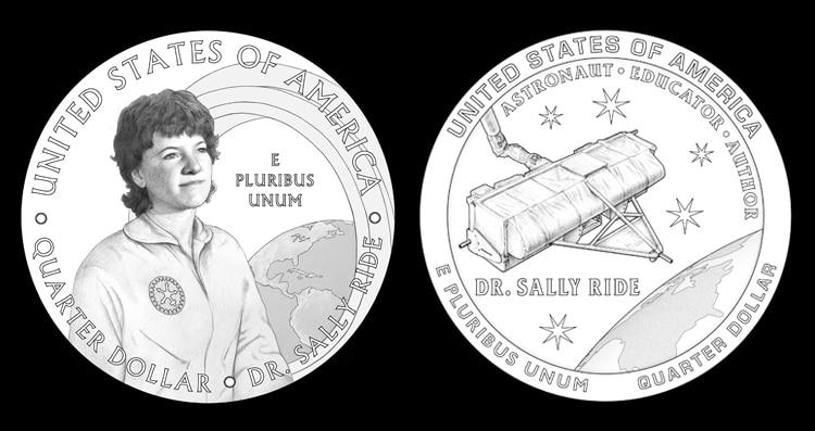 Dr. Sally Ride Astronaut Quarter Design