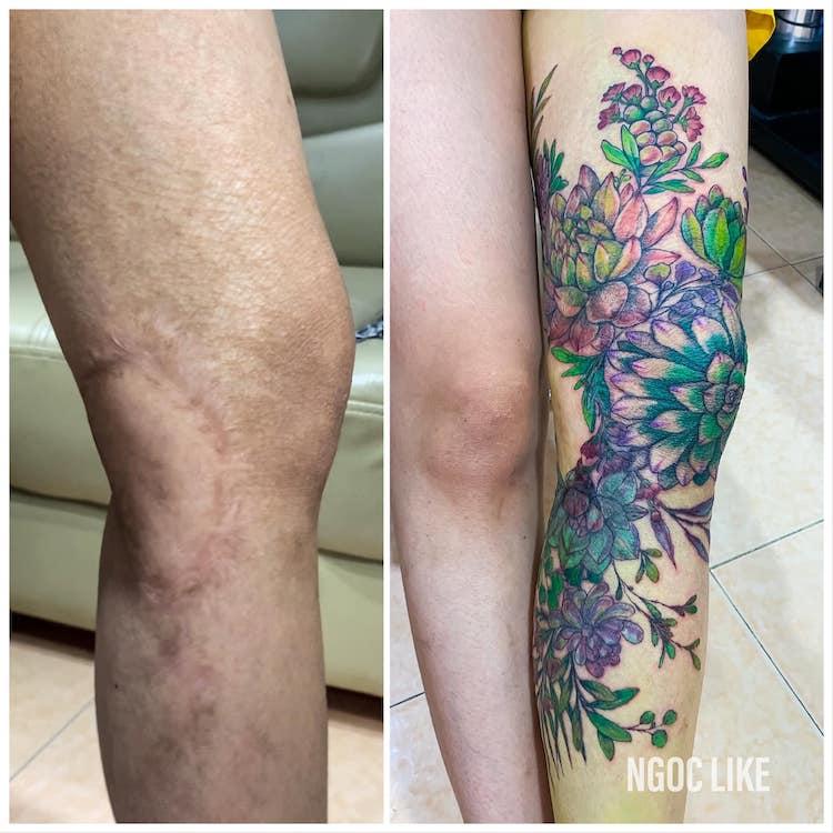 Tatuajes en cicatrices de Ngoc Like Tattoo