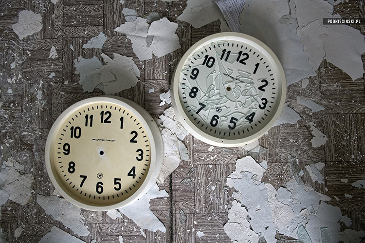 Smashed office clocks in BK2 office.