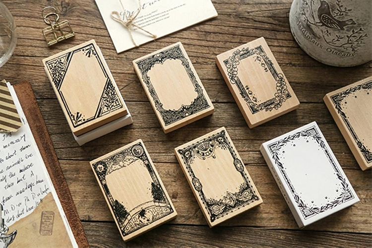 Stamp frames for scrapbooking and card making