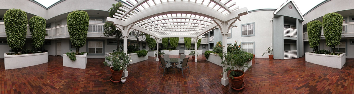 Stitched Panoramic Photo of an Atrium