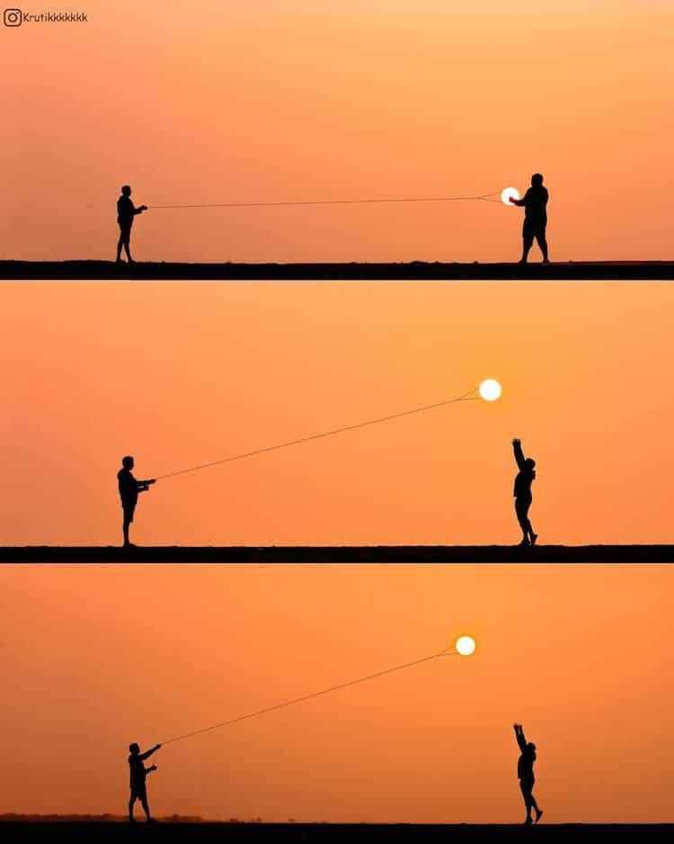 Fotos de la puesta de sol por Krutik Thakur