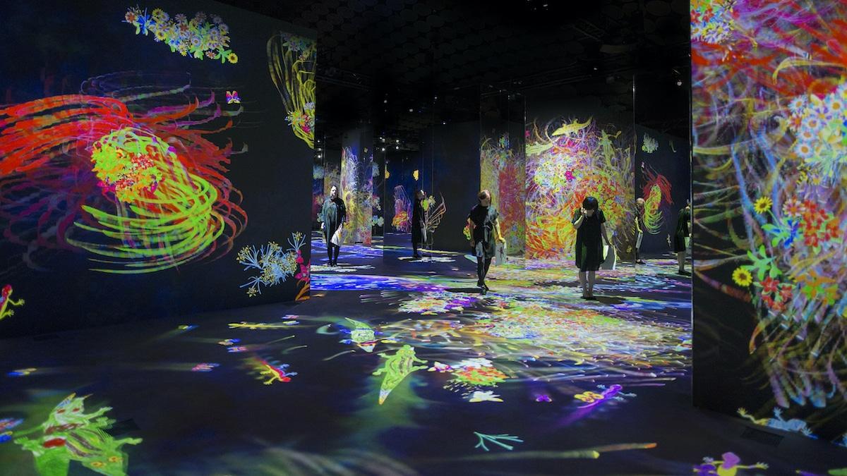 teamLab Immersive Art Experience at CaixaForum Barcelona, Spain