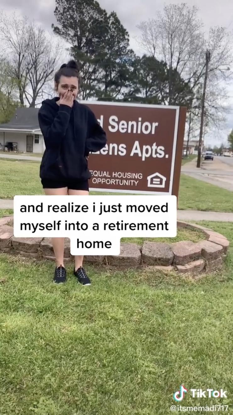 Teenager Accidentally Moves into Retirement Community TikTok