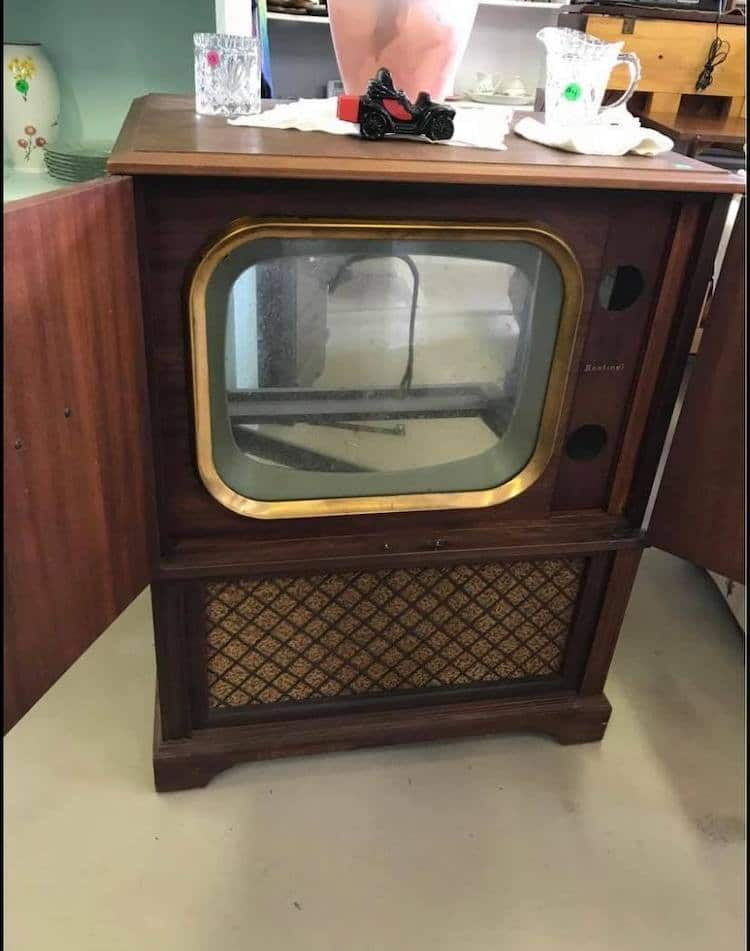 Hollowed Out CRT TV