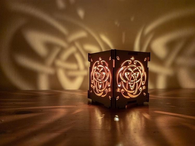 Triquetra Celtic Wooden Lantern