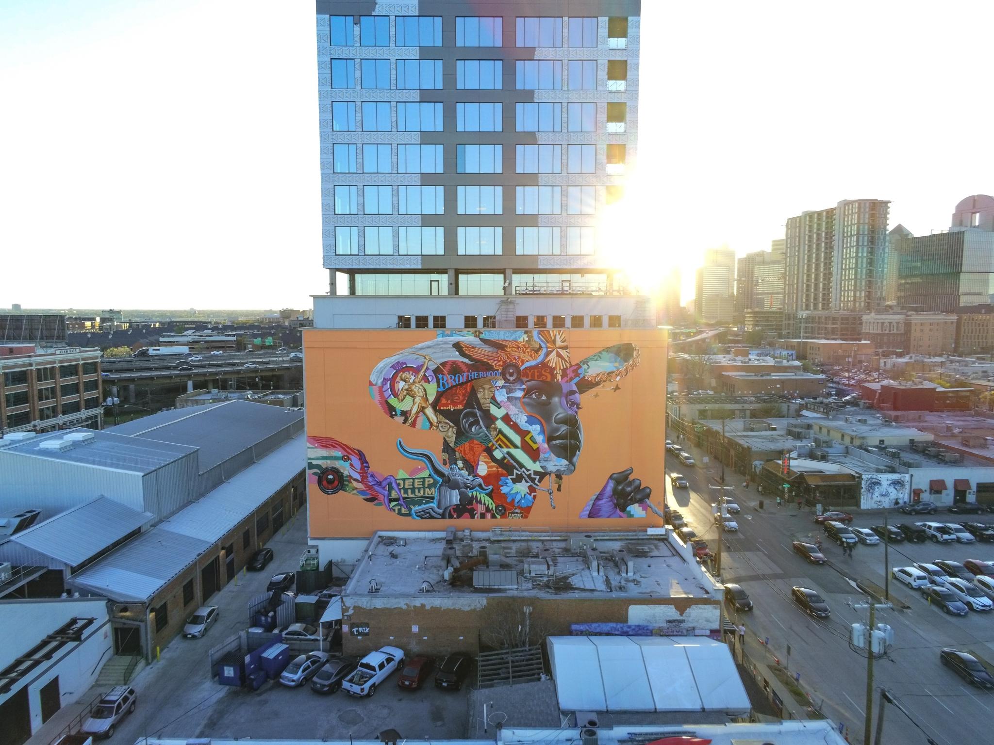 mural de Deep Ellum en dallas texas