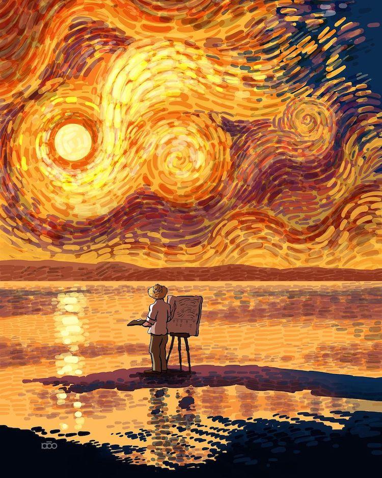 Vincent van Gogh Comic by Alireza Karimi Moghaddam