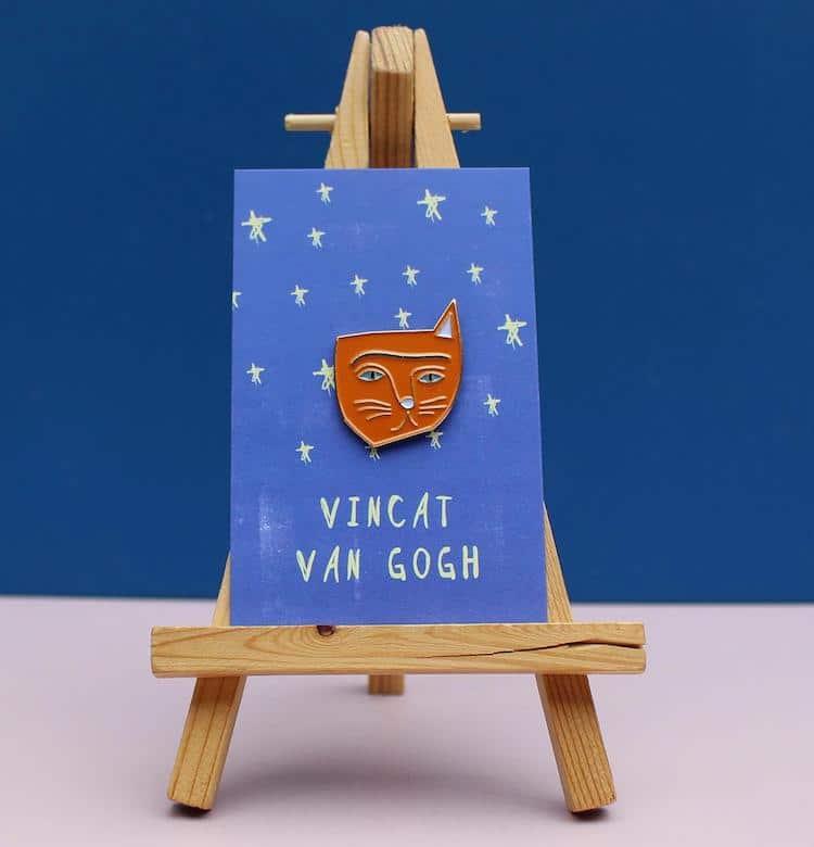 Vincat Van Gogh Enamel Pin