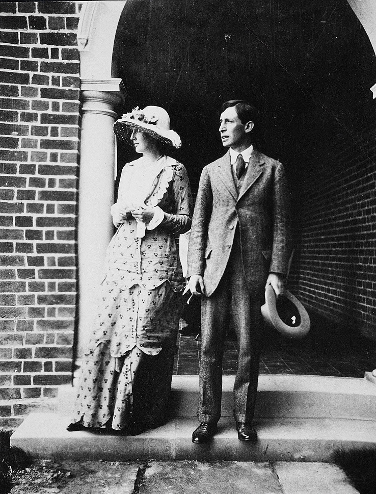 Virginia et son mari Léonard Woolf