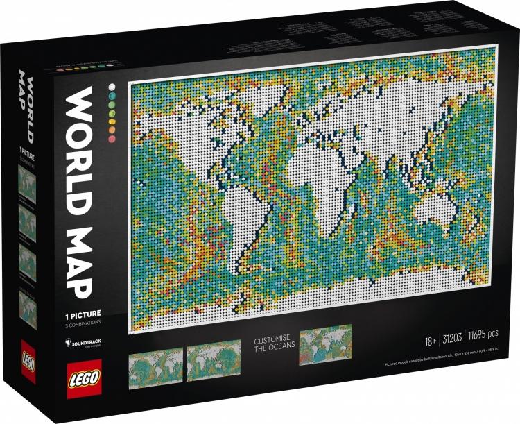 World Map Lego Set
