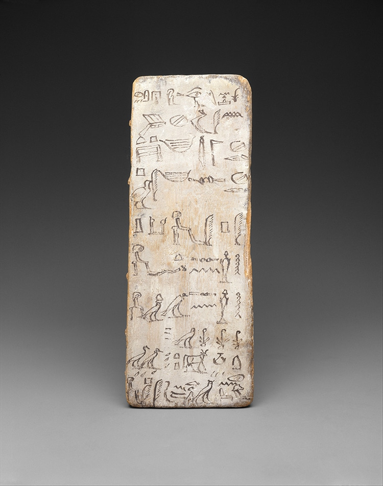 Writing Board with Formal Hieroglyphics