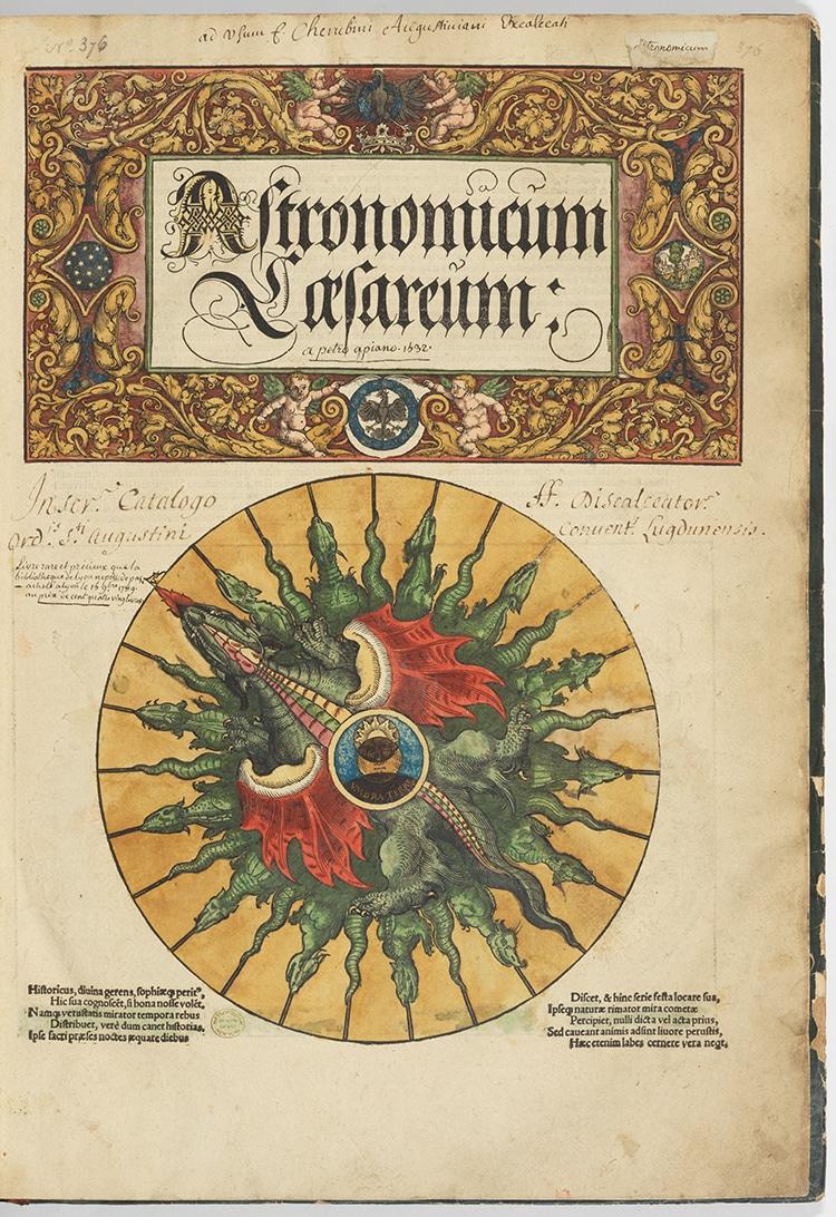 Astronomicum Caesareum Renaissance Science Book and Illuminated Manuscripts
