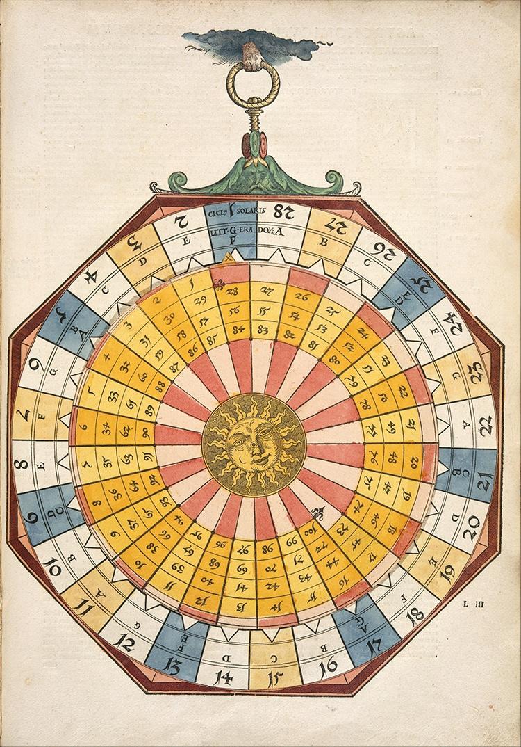 Illustration tirée de l'Astronomicum Caesareum, un ouvrage scientifique de la Renaissance