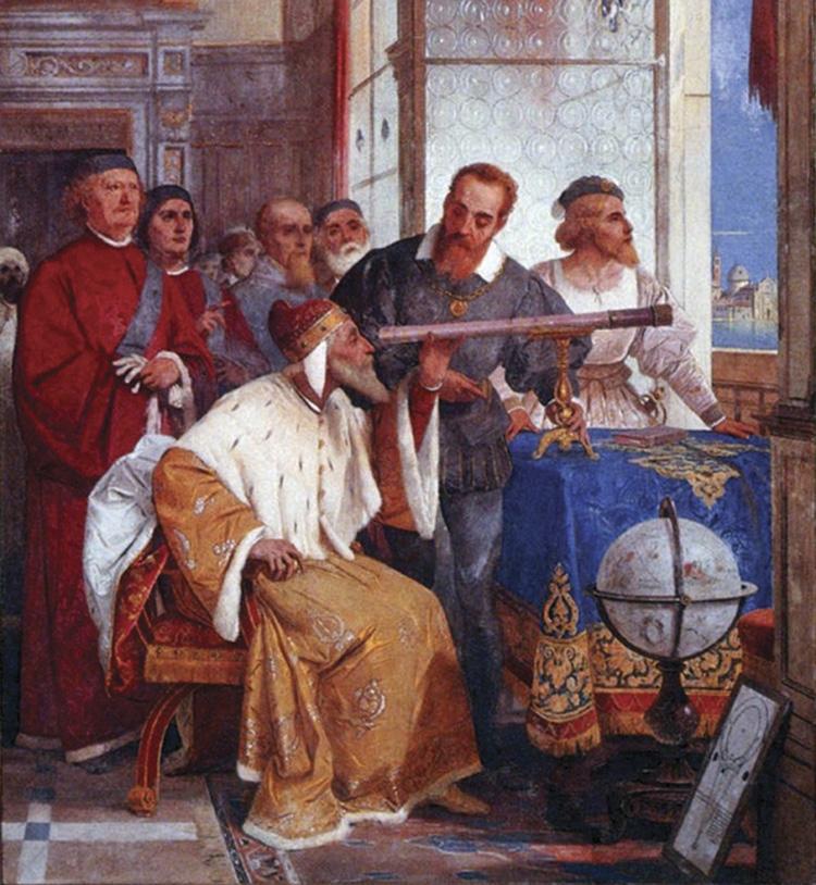 Galilée montrant au Doge de Venise comment utiliser le télescope