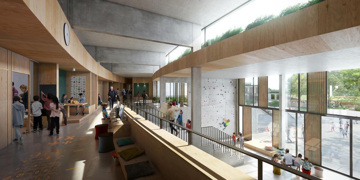 Interior View of Henning Larsen's the New School