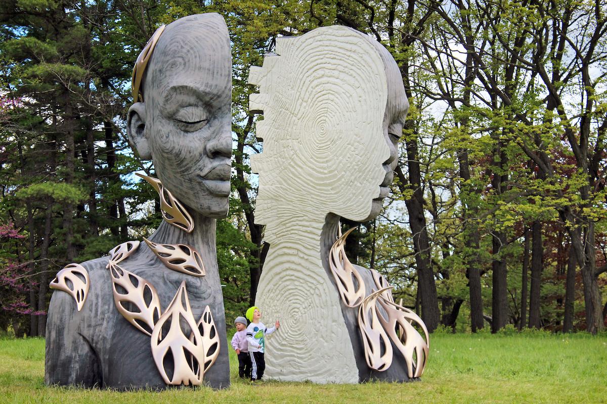 Daniel Popper Sculpture at the Morton Arboretum