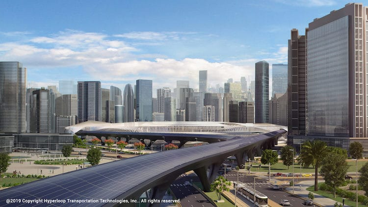 Hyperloop Station by Day