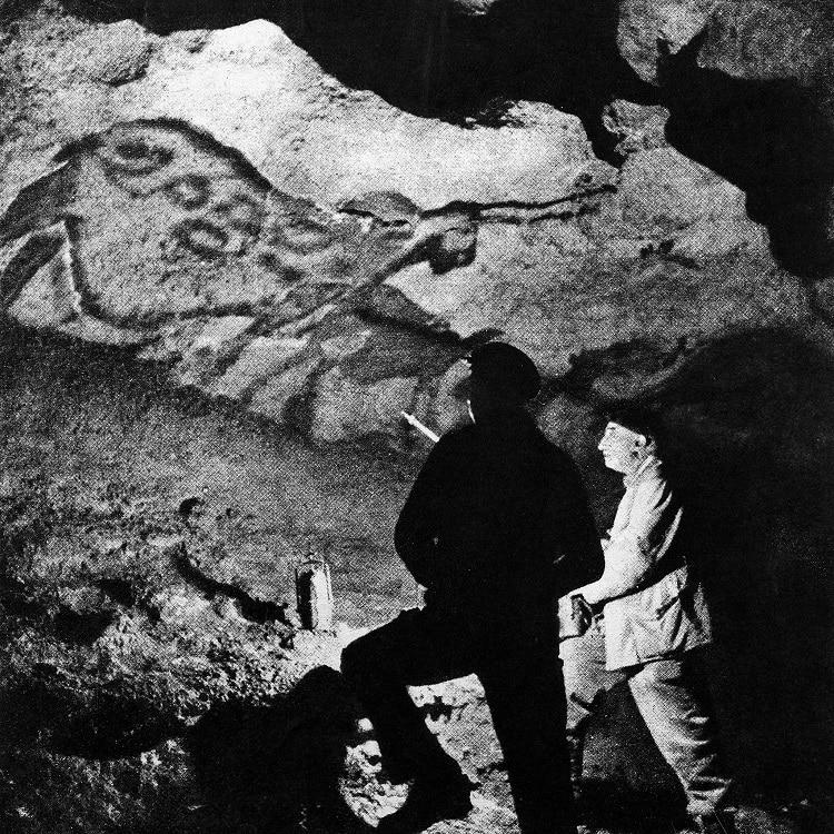 l'Abbé Breuil visite la grotte de Lascaux