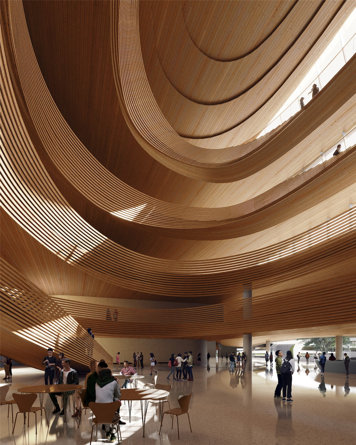 Interior View of MAD Architects' Jiaxing Civic Center