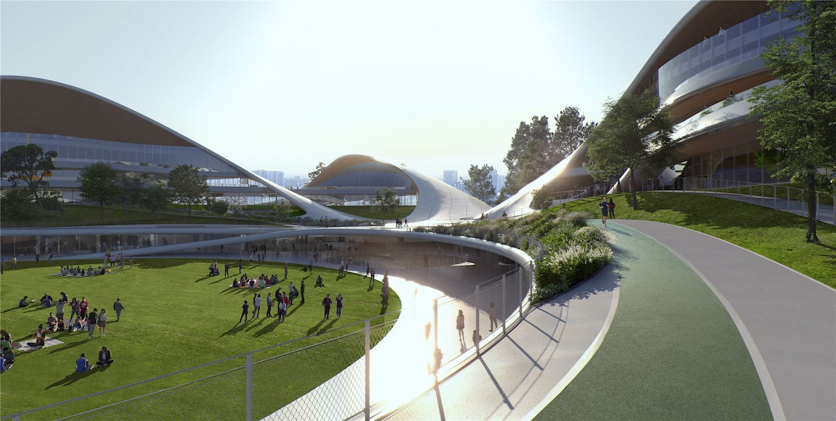 Exterior View of MAD Architects' Jiaxing Civic Center
