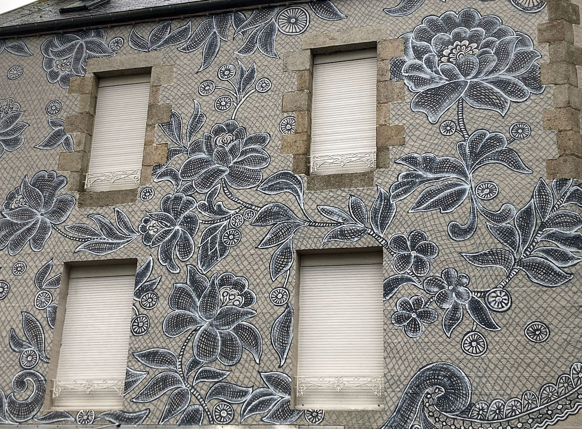 Lace Street Art Mural in Callac