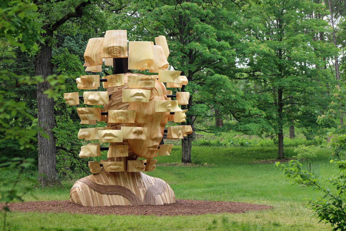 Large Wood Sculptures by Daniel Popper at the Morton Arboretum