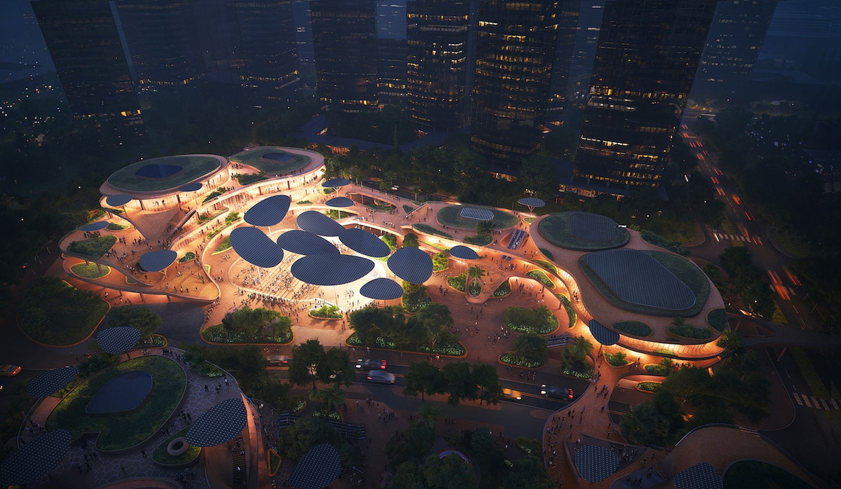 Aerial view of Shenzhen terraces by MVRDV