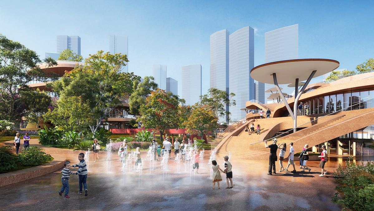Exterior view of Shenzhen terraces by MVRDV